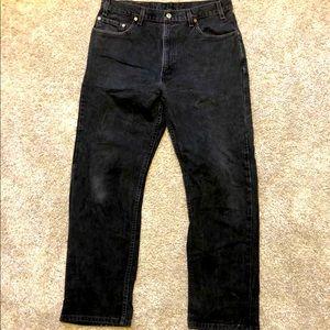 Mens Levi 505 Vintage Regular Fit Straight Leg Blk